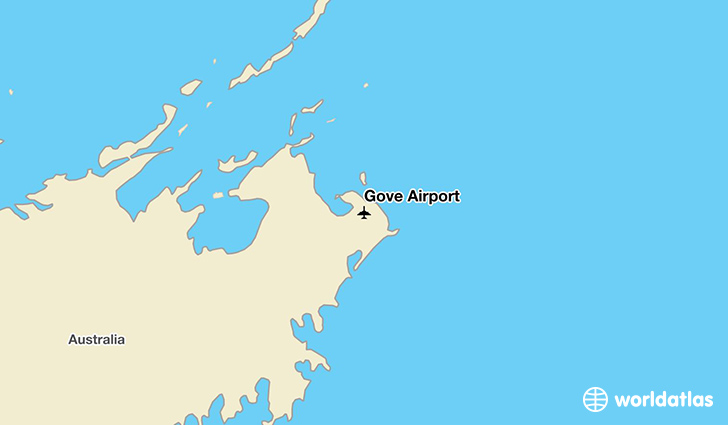 Gove Airport location on a map