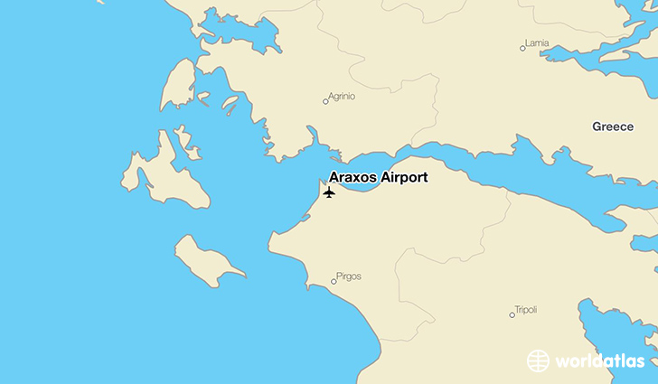 Araxos Airport location on a map