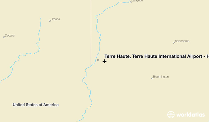 Terre Haute, Terre Haute International Airport - Hulman Field location on a map