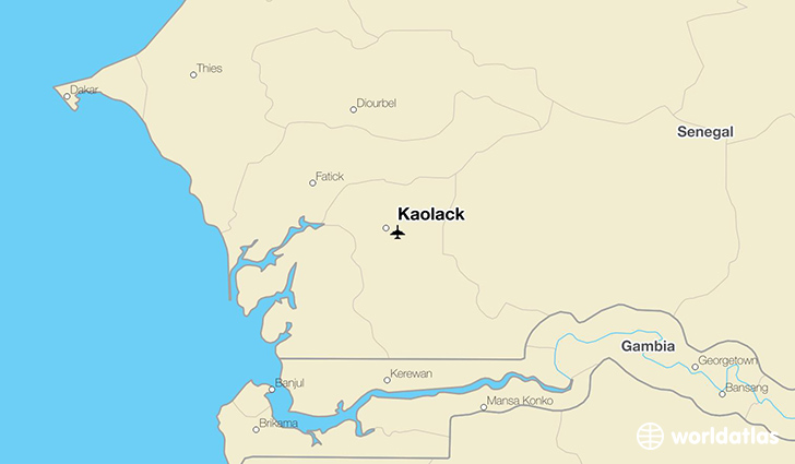 Kaolack location on a map