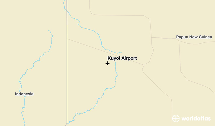 Kuyol Airport location on a map
