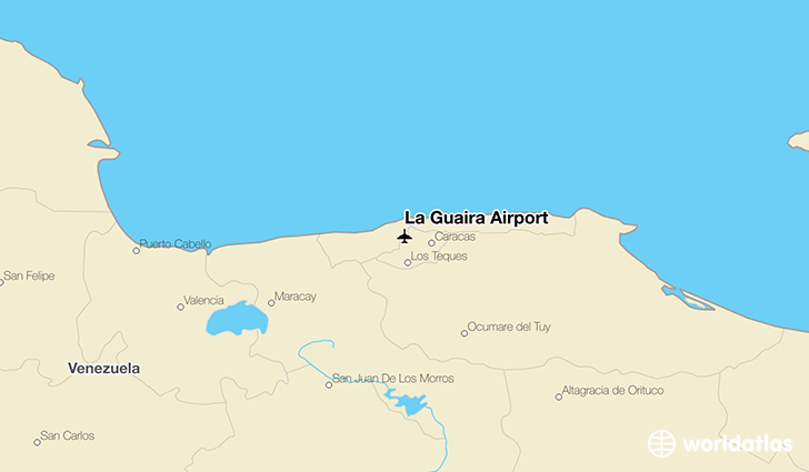 La Guaira Airport location on a map