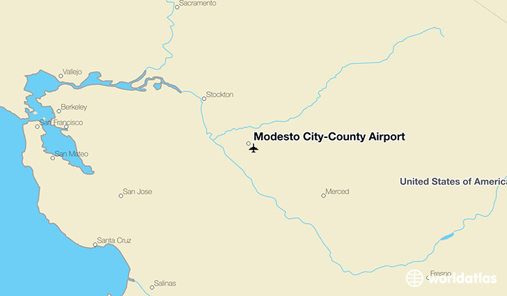 Modesto City-County Airport location on a map