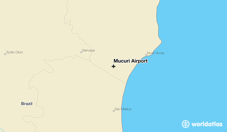 Mucuri Airport location on a map
