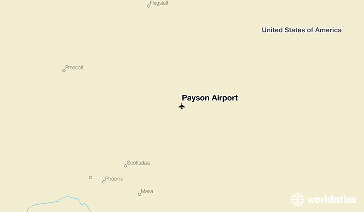 Payson Airport location on a map