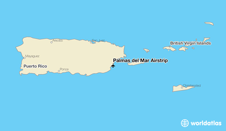 Palmas del Mar Airstrip location on a map