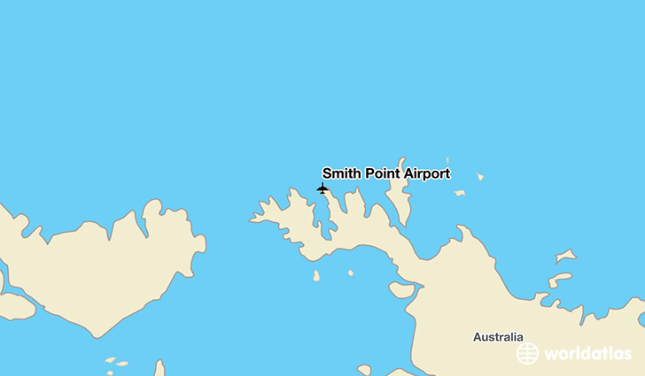 Smith Point Airport location on a map