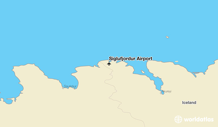 Siglufjordur Airport location on a map