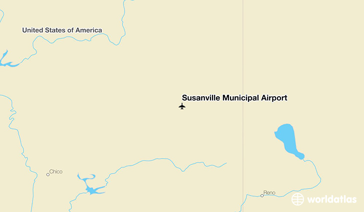 Susanville Municipal Airport location on a map