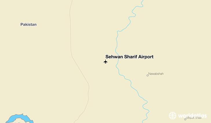 Sehwan Sharif Airport location on a map