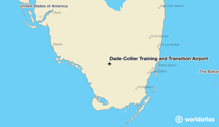 Dade-Collier Training and Transition Airport location on a map
