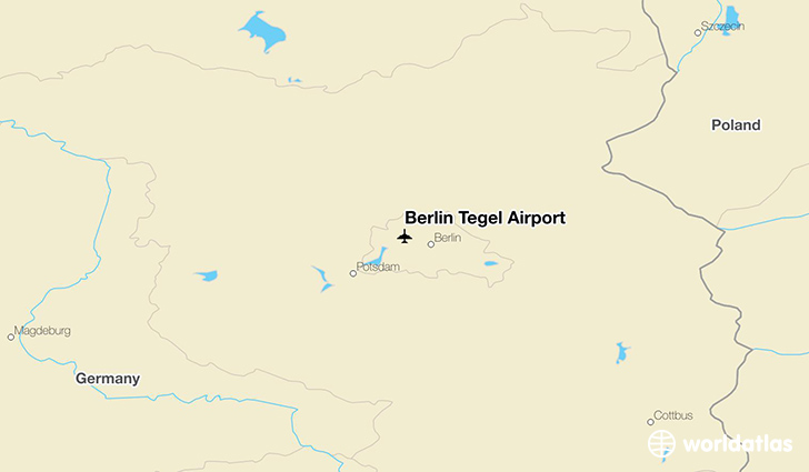 Berlin Tegel Airport location on a map