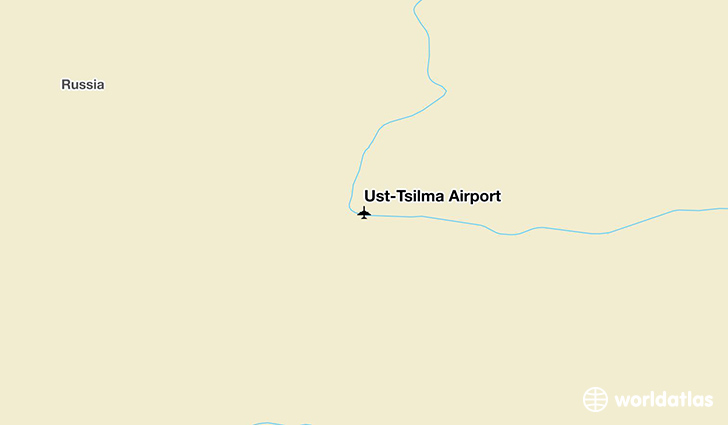 Ust-Tsilma Airport location on a map