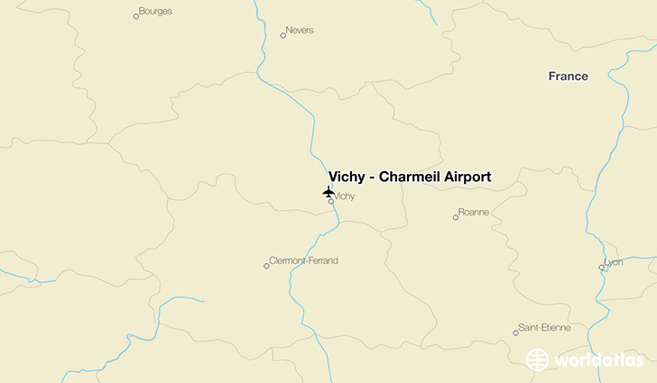 Vichy - Charmeil Airport location on a map