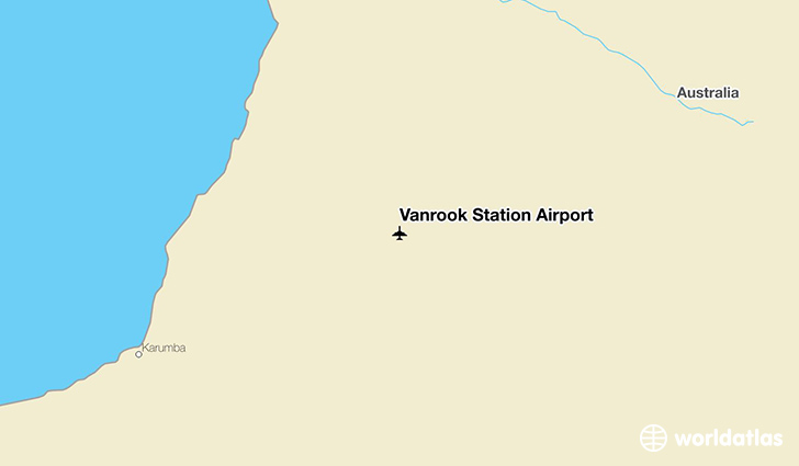 Vanrook Station Airport location on a map