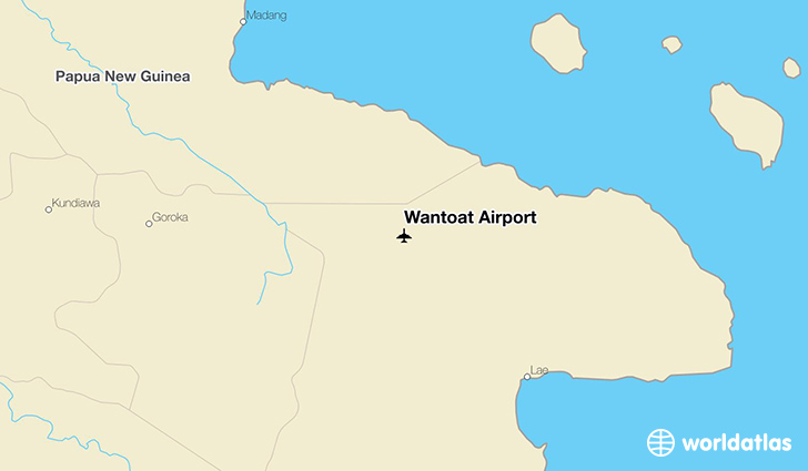 Wantoat Airport location on a map