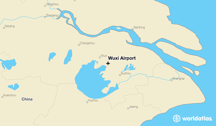 Wuxi Airport location on a map