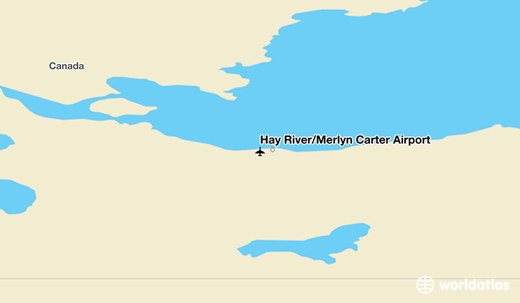 Hay River/Merlyn Carter Airport location on a map