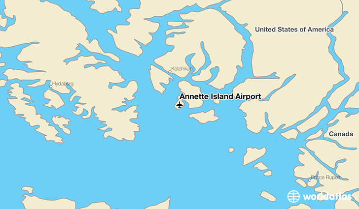 Annette Island Airport location on a map
