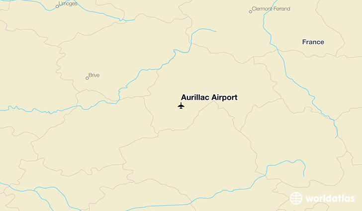 Aurillac Airport location on a map