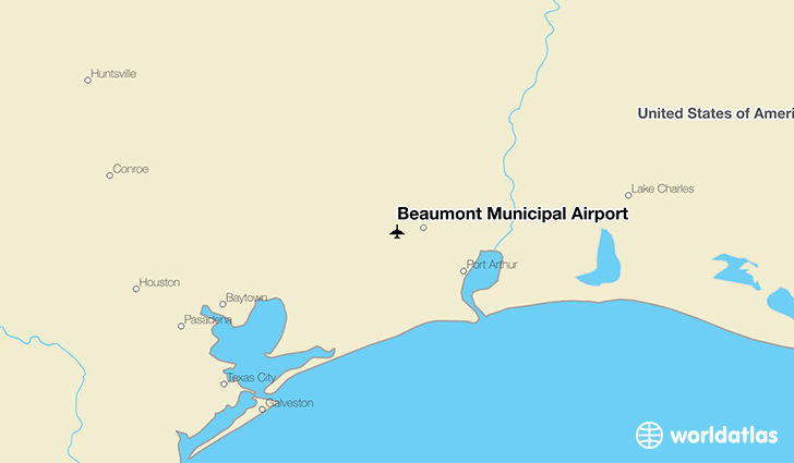 Beaumont Municipal Airport location on a map