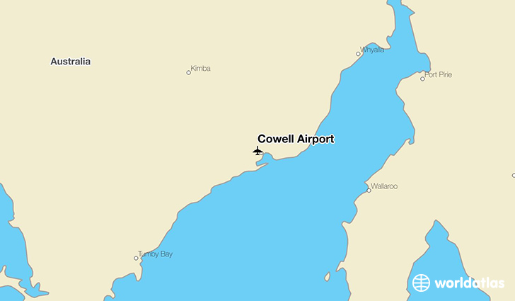Cowell Airport location on a map