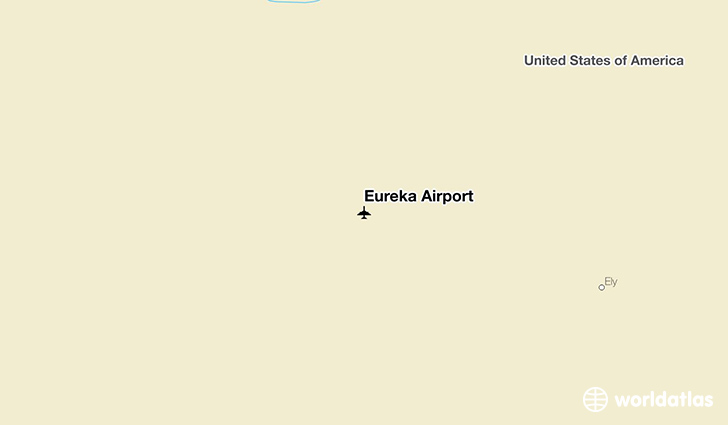 Eureka Airport location on a map