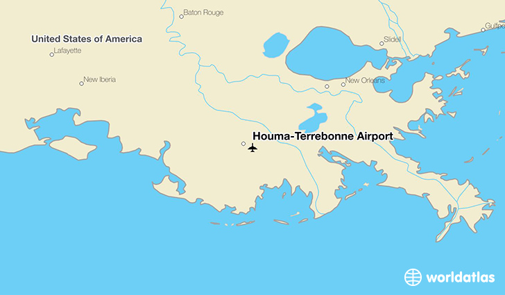 Houma-Terrebonne Airport location on a map