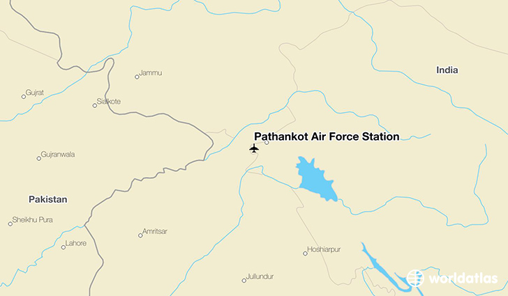 Pathankot Air Force Station location on a map
