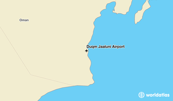 Duqm Jaaluni Airport location on a map