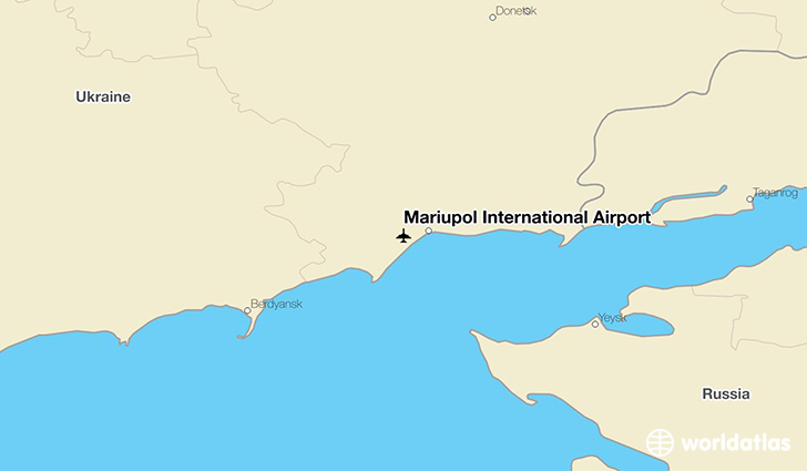 Mariupol International Airport location on a map