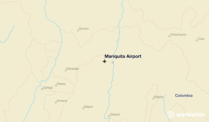 Mariquita Airport location on a map