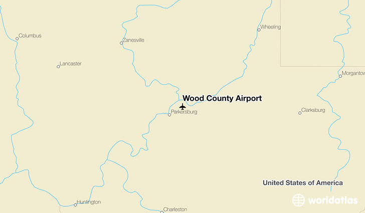 Wood County Airport location on a map