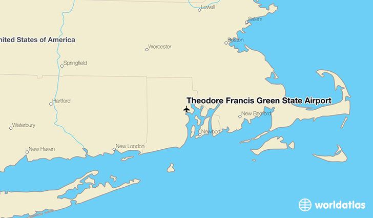 Theodore Francis Green State Airport location on a map