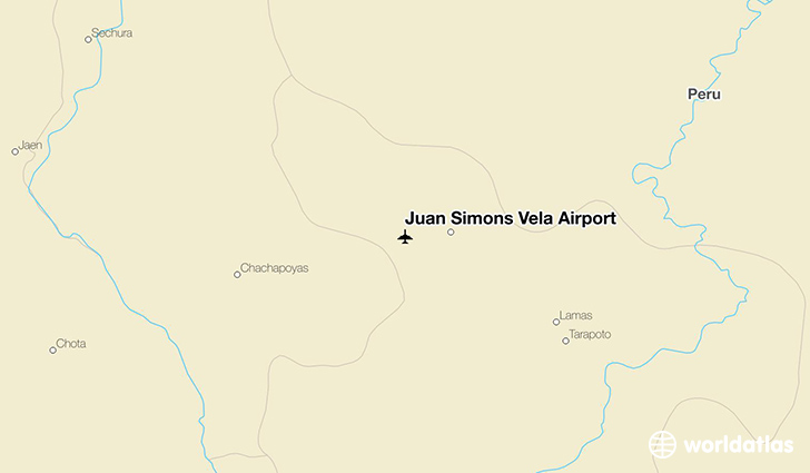 Juan Simons Vela Airport location on a map