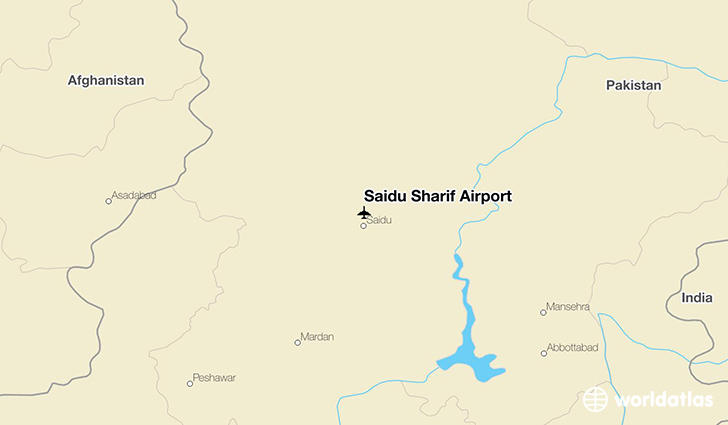 Saidu Sharif Airport location on a map