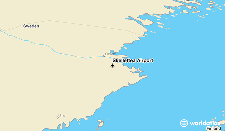 Skellefteå Airport location on a map