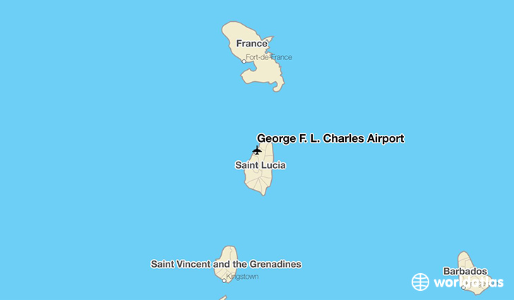 George F. L. Charles Airport location on a map