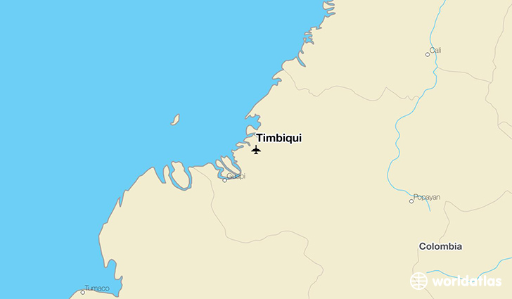 Timbiqui location on a map