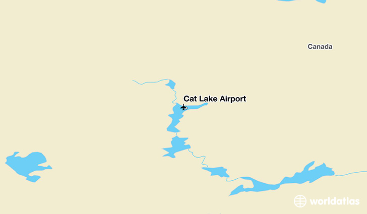 Cat Lake Airport location on a map