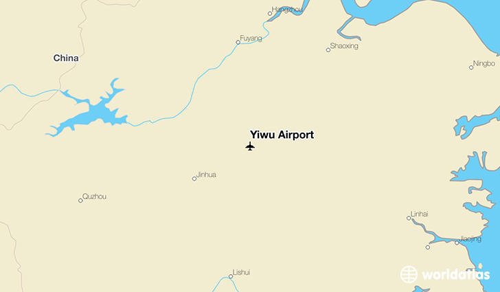 Yiwu Airport location on a map