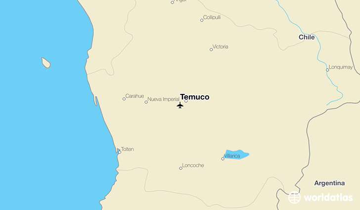 Temuco location on a map