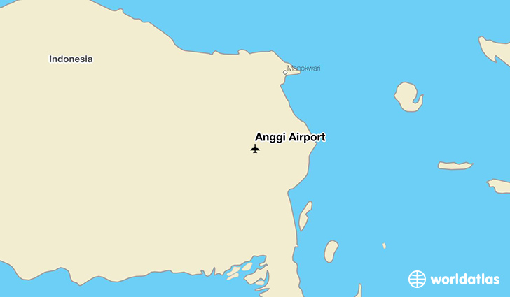 Anggi Airport location on a map