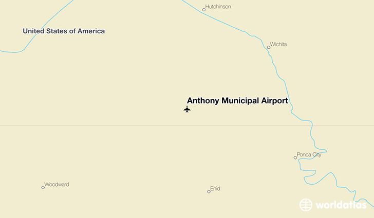 Anthony Municipal Airport location on a map