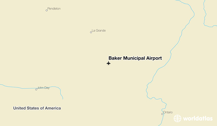 Baker Municipal Airport location on a map