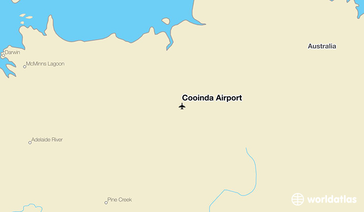 Cooinda Airport location on a map