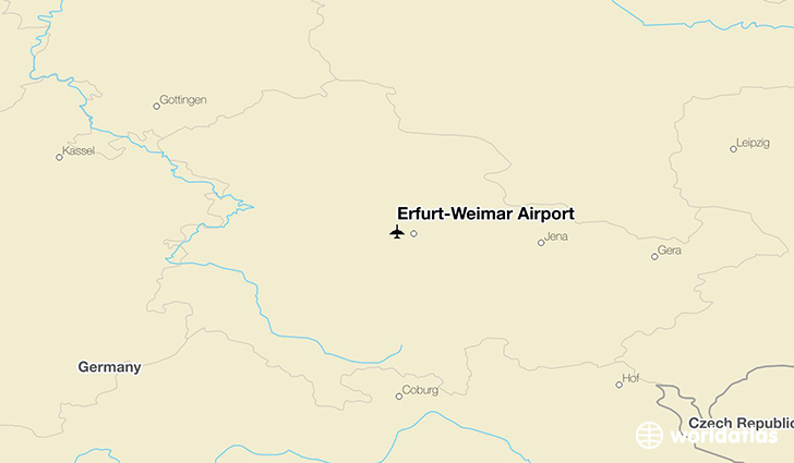 Erfurt–Weimar Airport location on a map