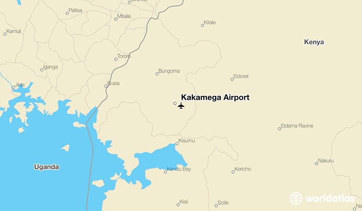 Kakamega Airport location on a map