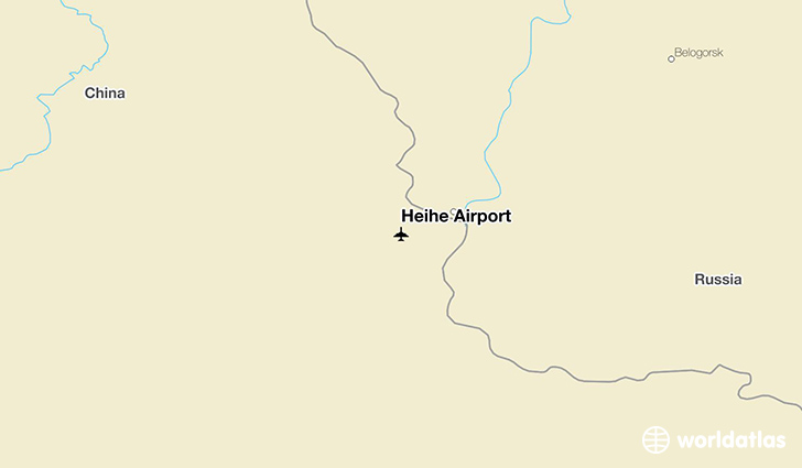 Heihe Airport location on a map