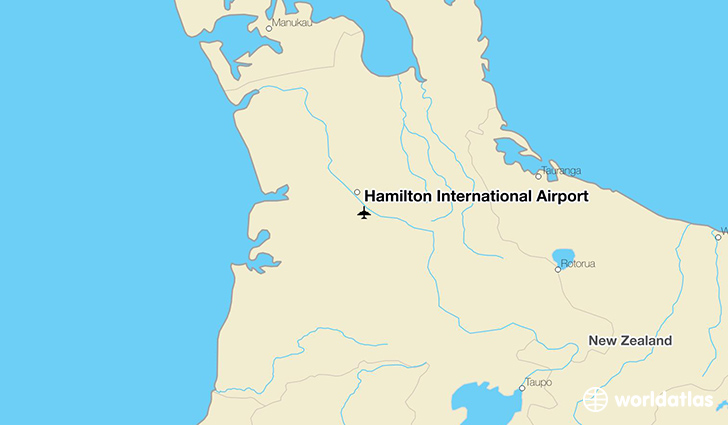 Hamilton International Airport location on a map